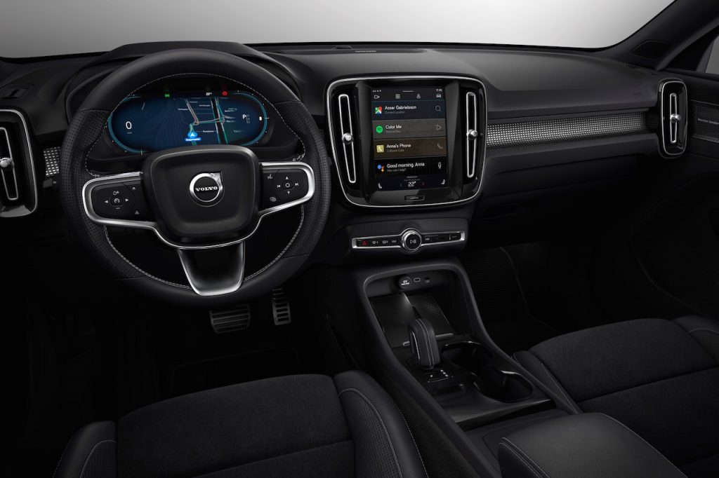 Volvo XC40 EV interior