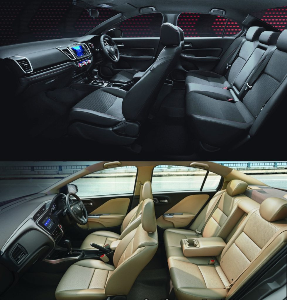 2020 Honda City interior vs 2017 Honda City interior