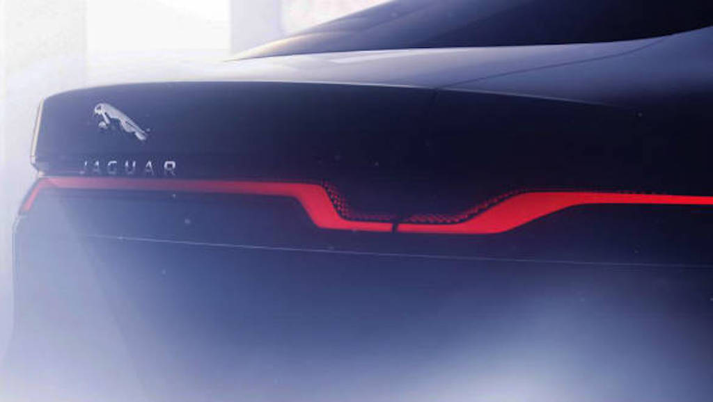 2020 Jaguar XJ rear teaser