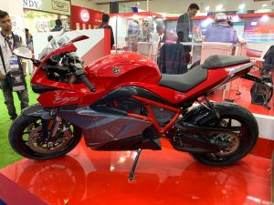 Energica Ego in India at the Auto Components Show 2020