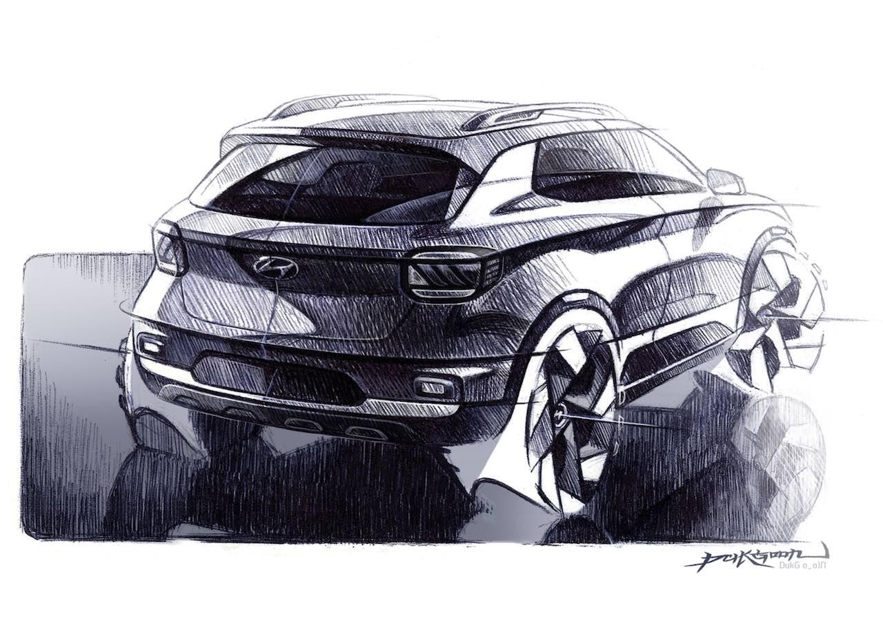 Hyundai Venue rear sketch
