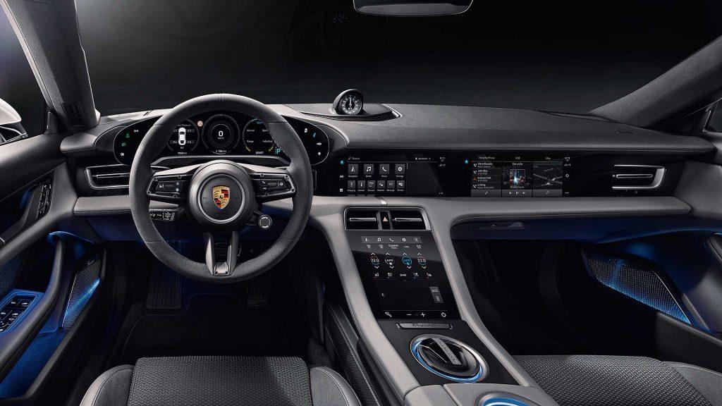 Porsche Taycan interior press image