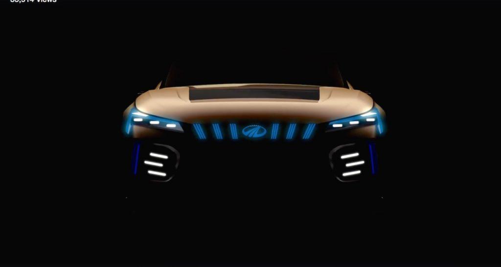 Mahindra Funster EV concept front teaser video screenshot