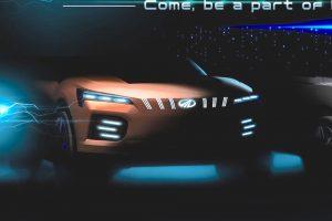 Mahindra XUV electric concept 2020 Auto Expo teaser