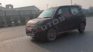 Maruti Wagon R EV spy shot front quarters
