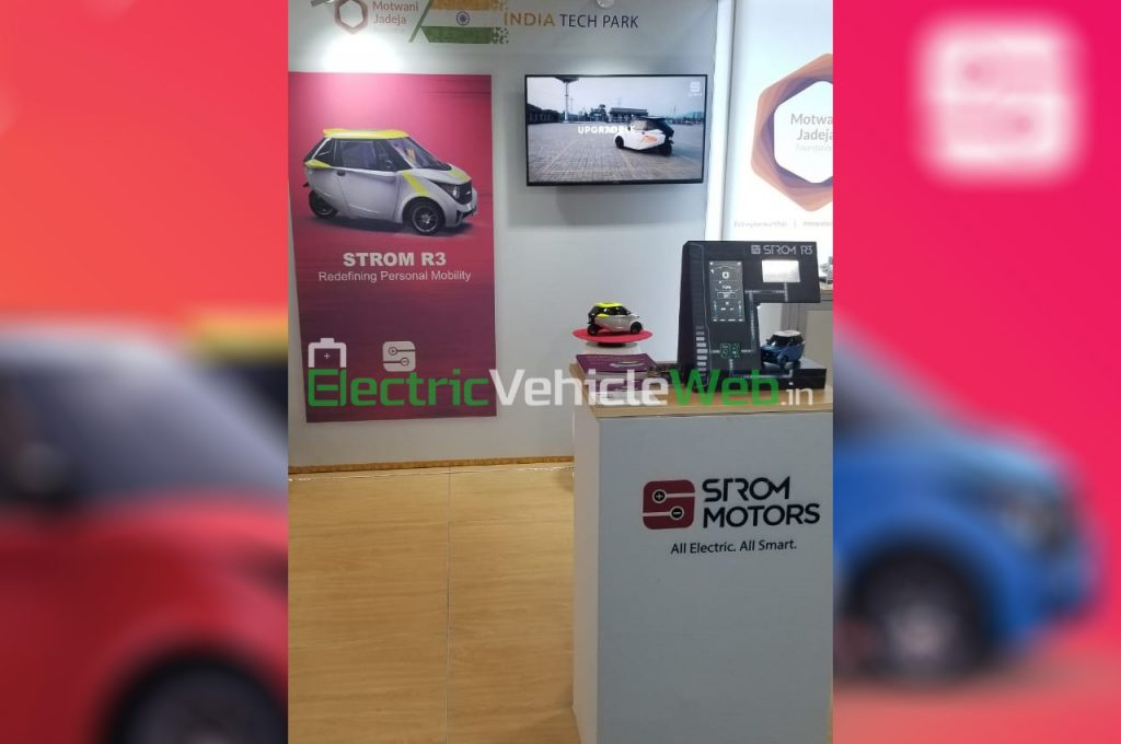 Strom Motors stall at CES 2020