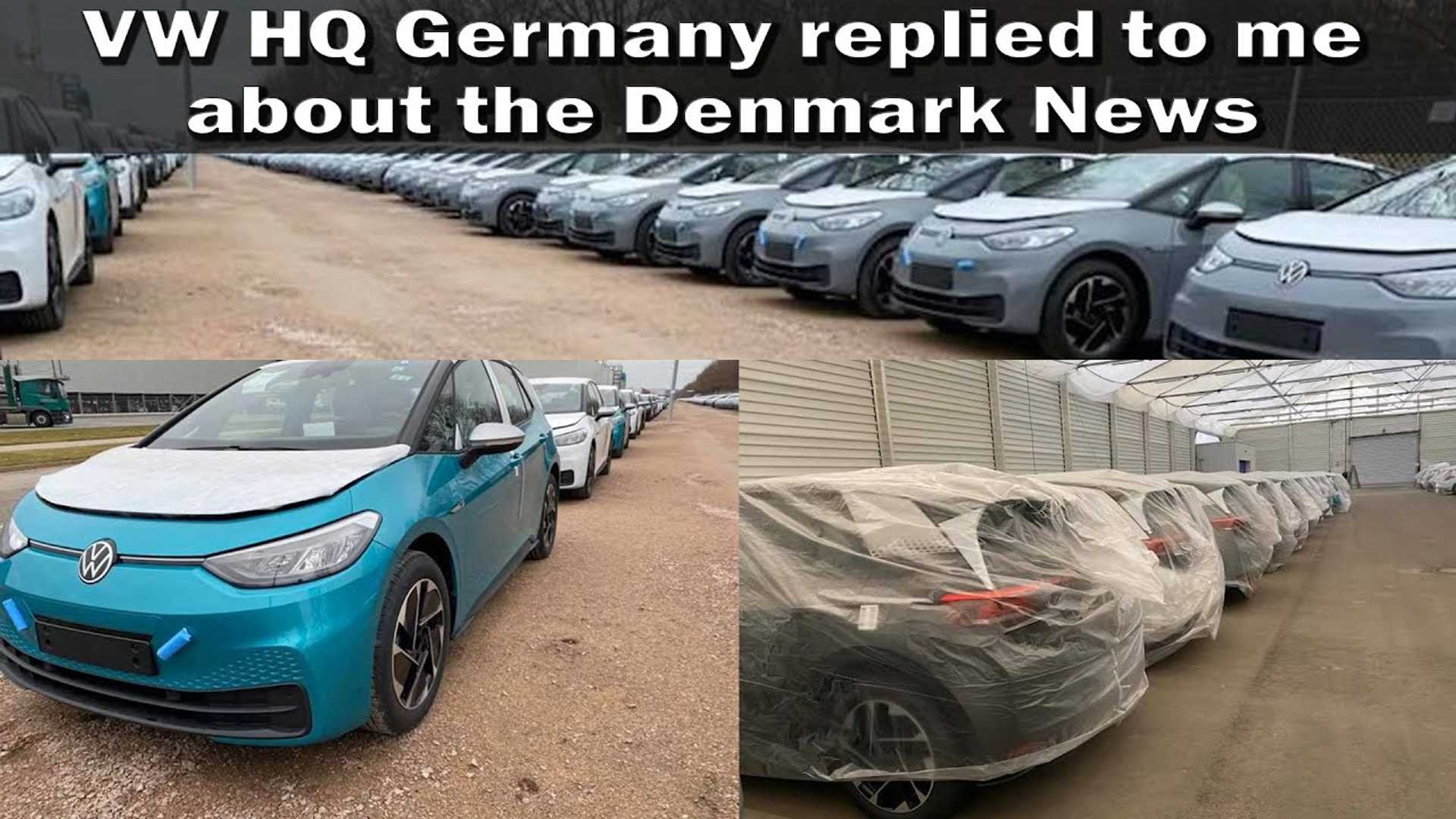 VW ID.3 parking lot stored August 2020 deliveries