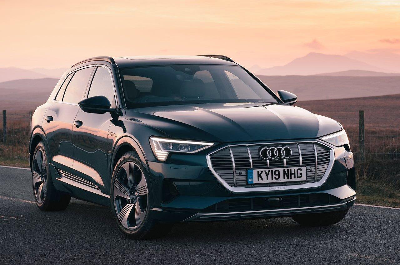 Audi e-tron front three quarter view