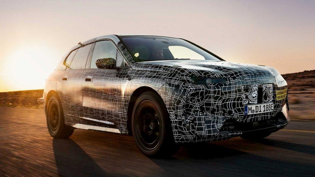 BMW iNext or BMW iX testing prototype
