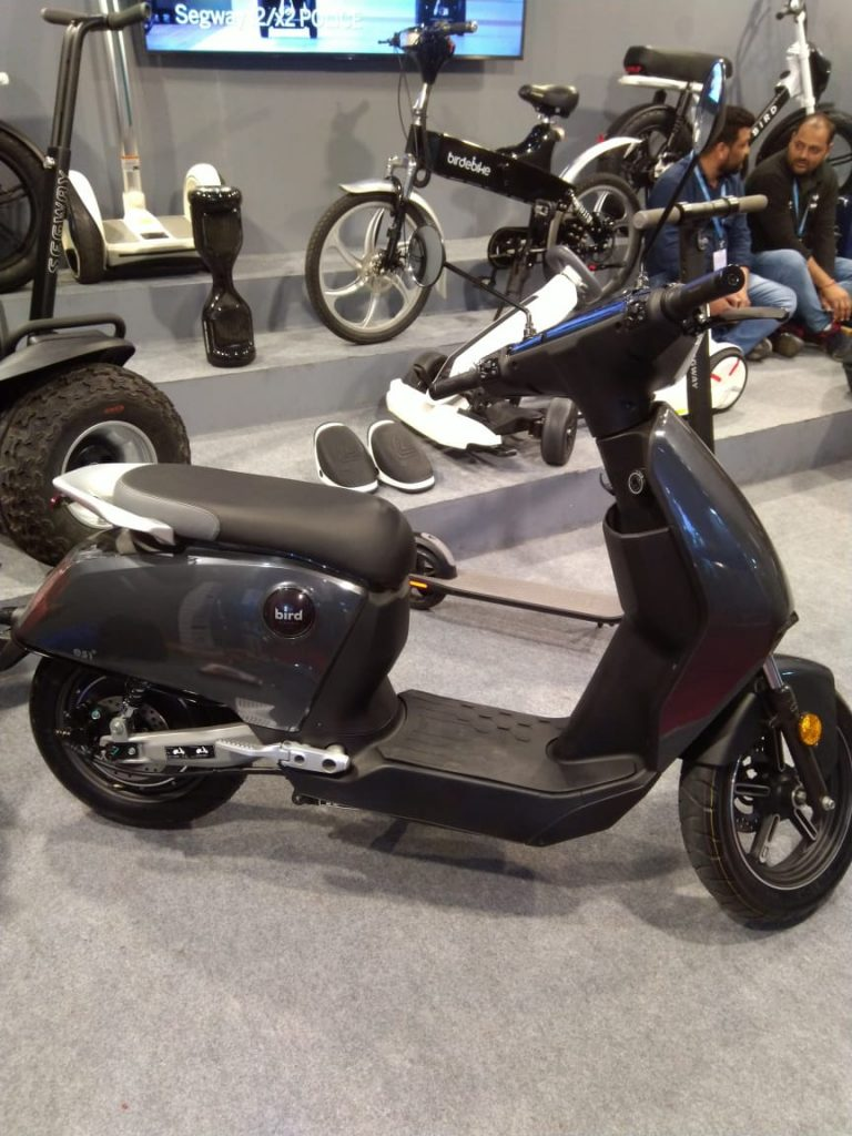 Bird ES1+ electric scooter side