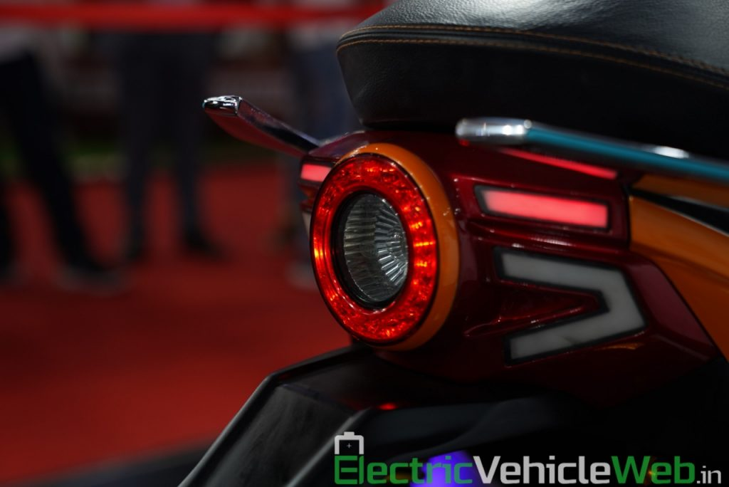 Everve Motors Electric Scooter tail light - Auto Expo 2020 Live