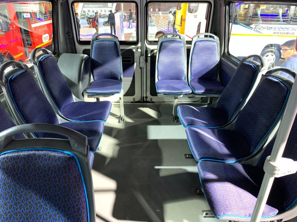 Force Traveller Electric seats - Auto Expo 2020