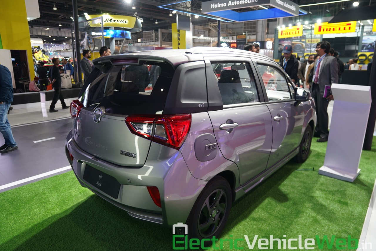Haima Bird Electric EV1 rear three quarter view 1 - Auto Expo 2020
