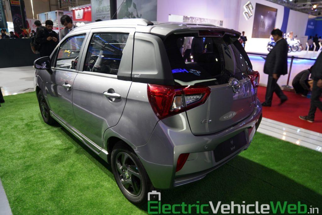 Haima Bird Electric EV1 rear three quarter view 2 - Auto Expo 2020