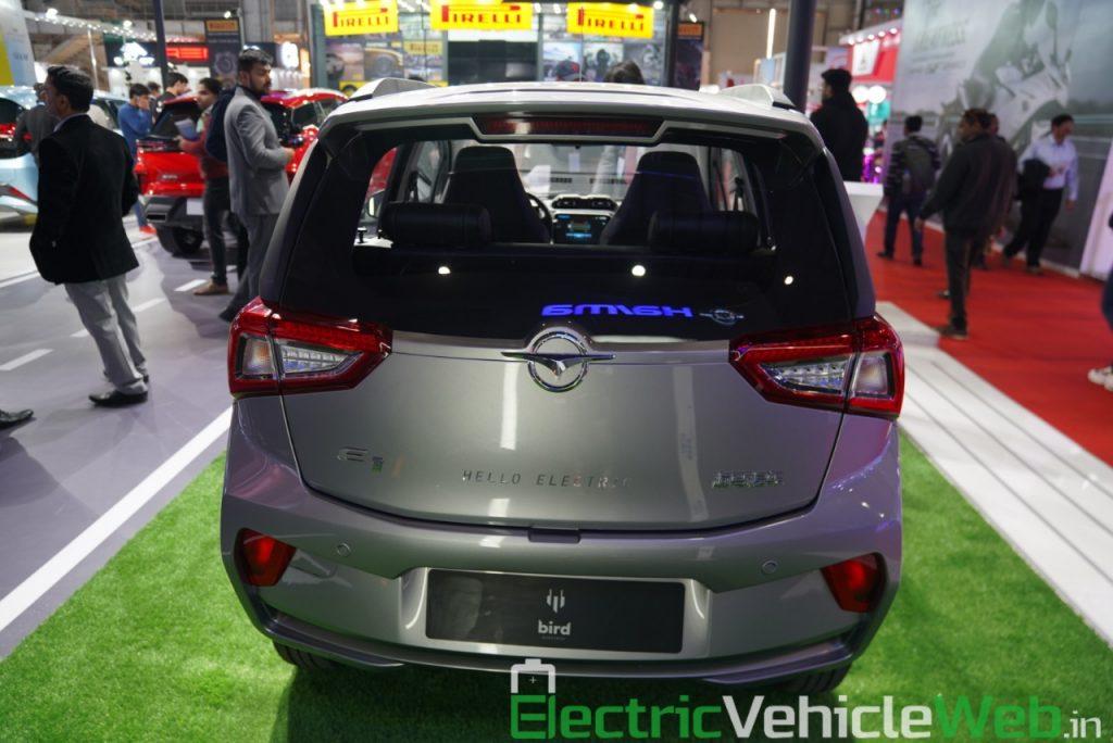 Haima Bird Electric EV1 rear view - Auto Expo 2020