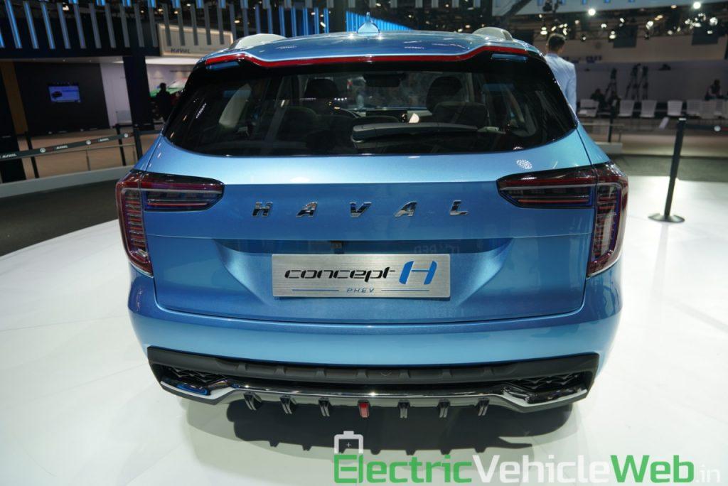 Haval H1 Concept rear view - Auto Expo 2020