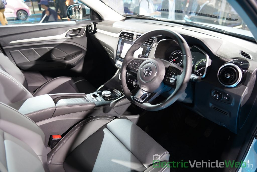 MG ZS EV dashboard - Auto Expo 2020