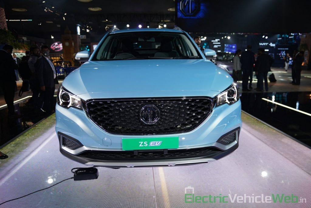 MG ZS EV front view - Auto Expo 2020