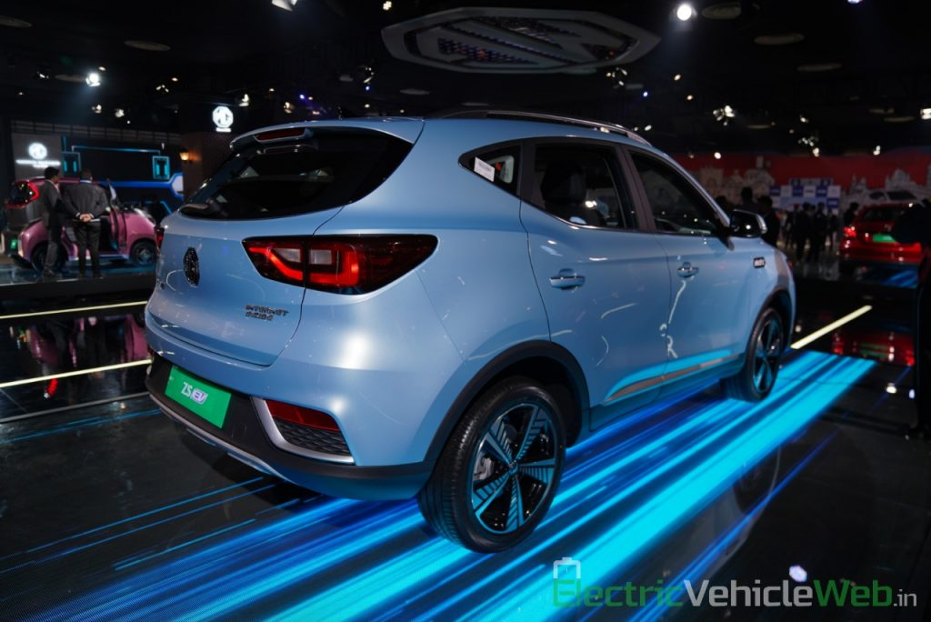 MG ZS EV rear three quarter view 1- Auto Expo 2020