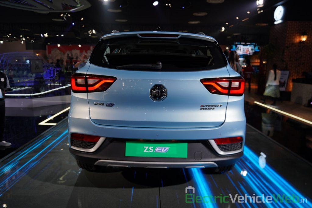 MG ZS EV rear view - Auto Expo 2020