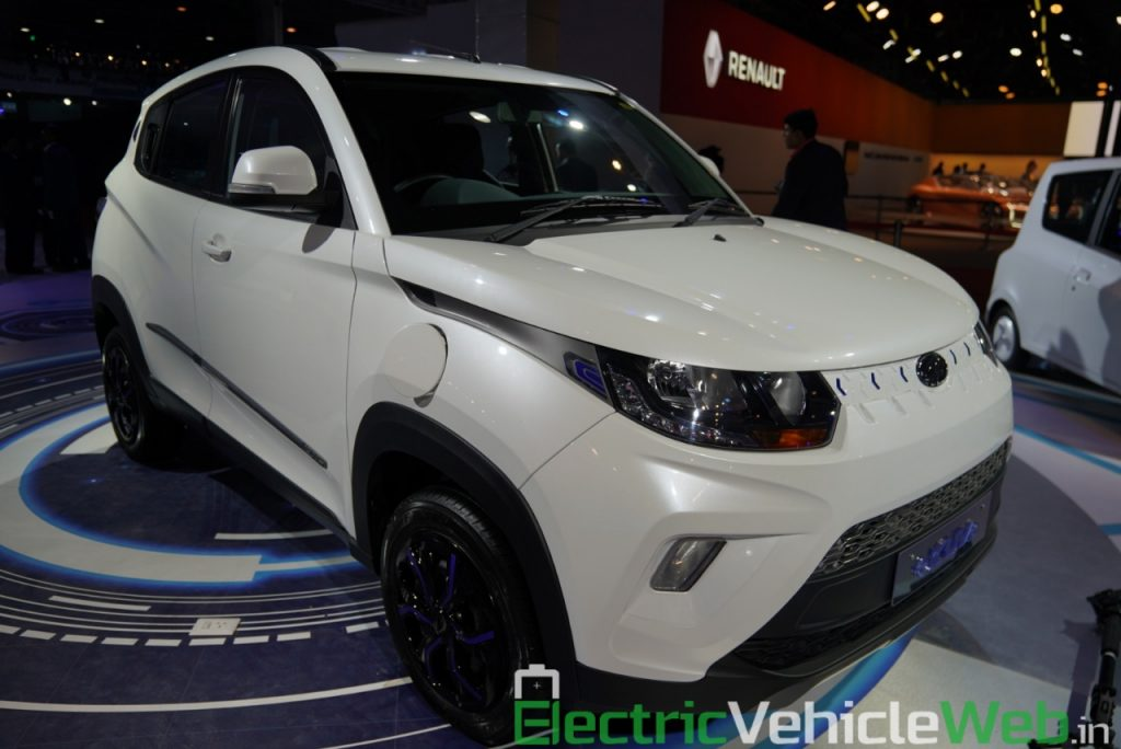 Mahindra eKUV100 front three quarter view - Auto Expo 2020