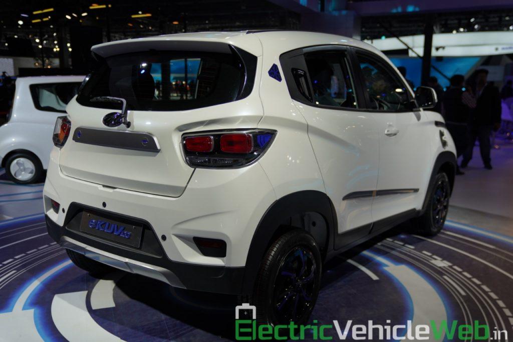 Mahindra eKUV100 rear three quarter view 1 - Auto Expo 2020