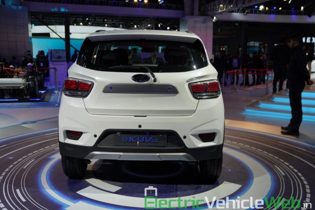 Mahindra eKUV100 rear view - Auto Expo 2020