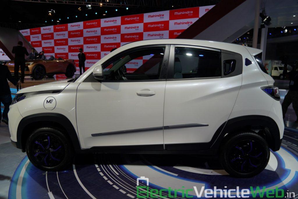 Mahindra eKUV100 side view 2 - Auto Expo 2020