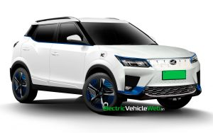 Mahindra eXUV300 front quarters rendering