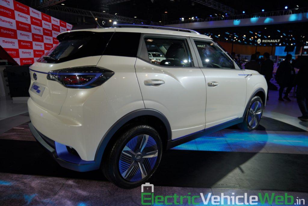 Mahindra eXUV300 rear three quarter view 1 - Auto Expo 2020