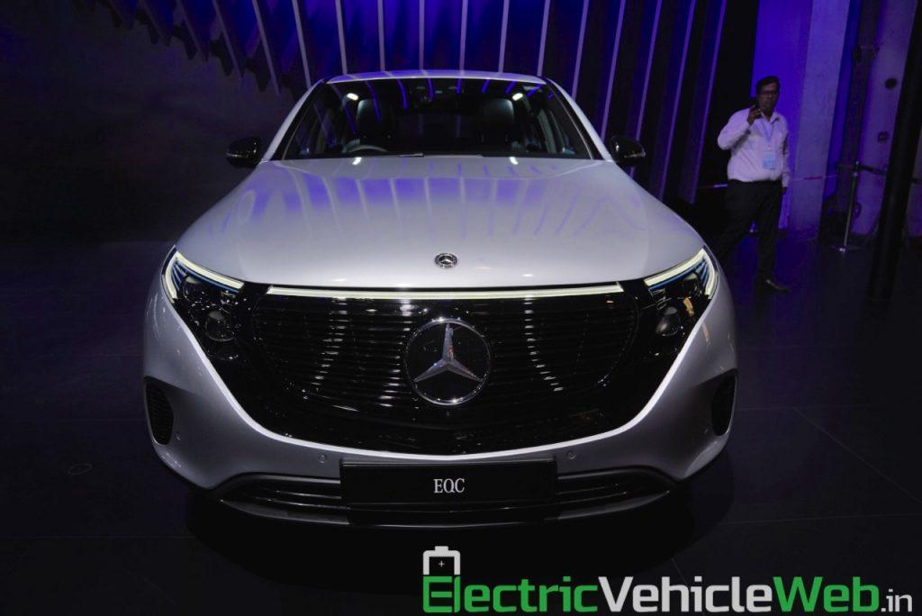 Mercedes EQC front at Auto Expo 2020