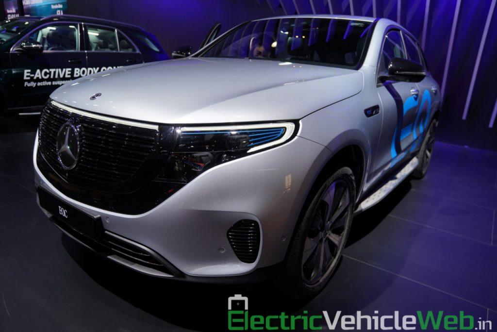 Mercedes EQC front three quarters at Auto Expo 2020