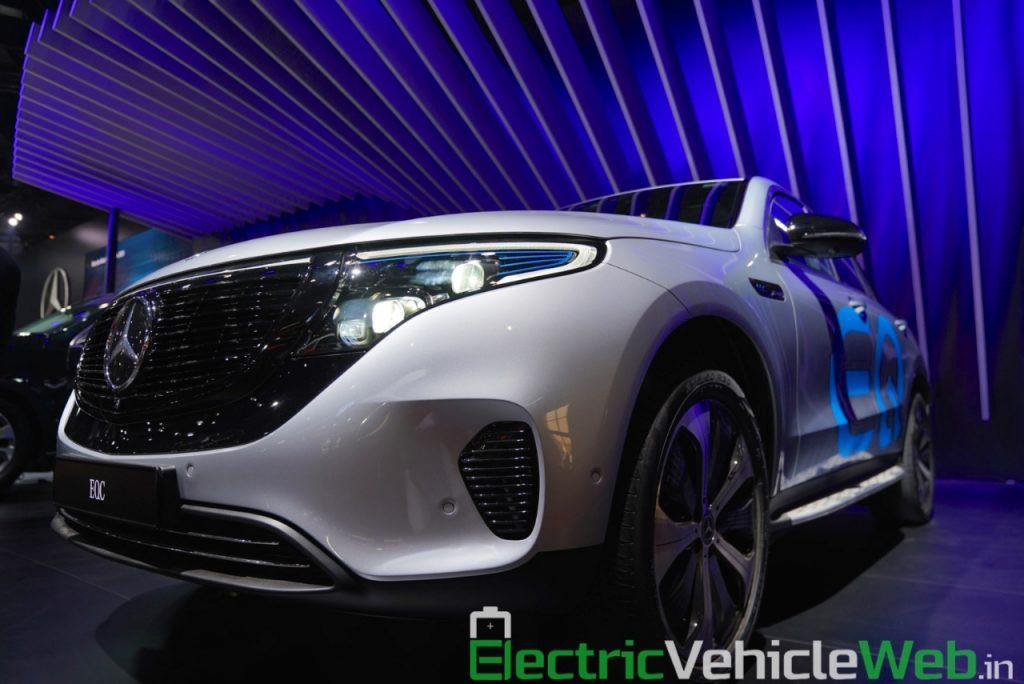 Mercedes EQC headlamp foglamp at Auto Expo 2020