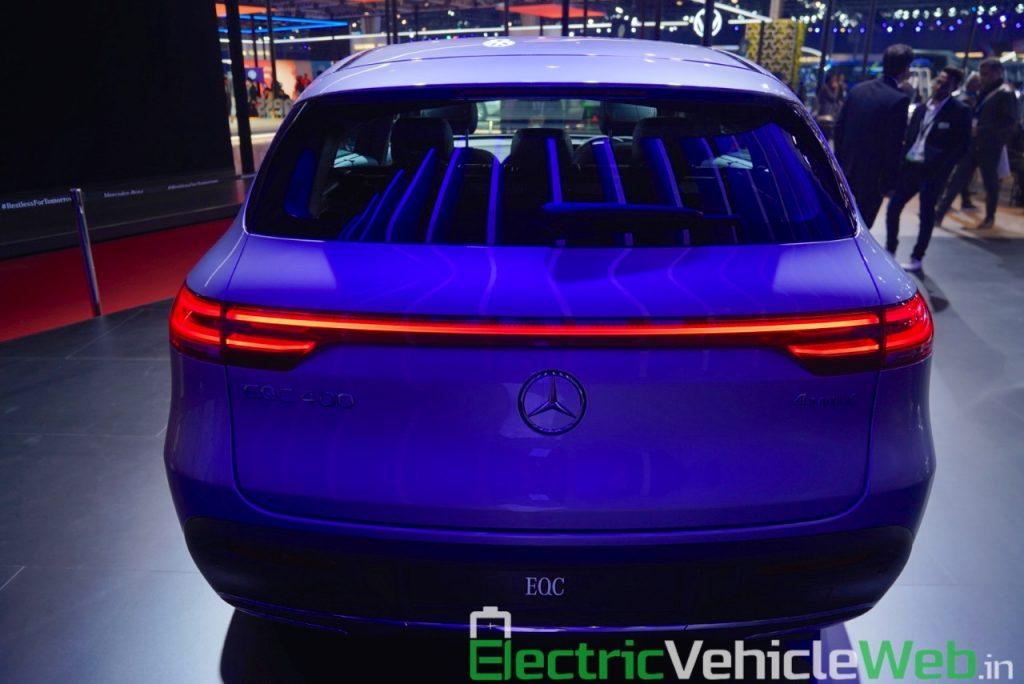 Mercedes EQC rear at Auto Expo 2020