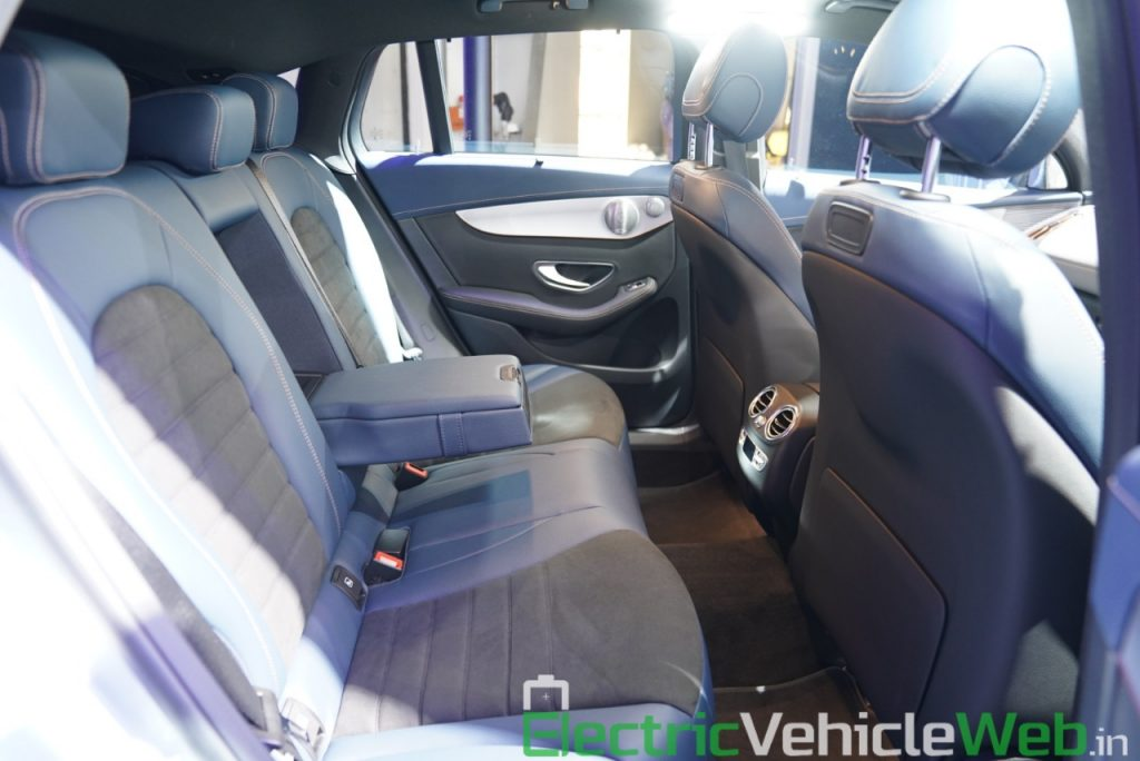 Mercedes EQC rear seat at Auto Expo 2020