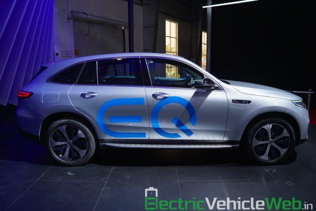 Mercedes EQC side profile at Auto Expo 2020