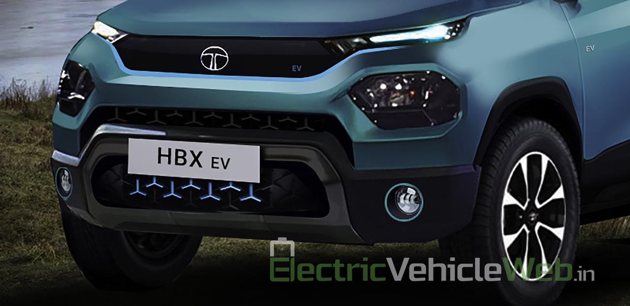 Nose of the Tata HBX EV render