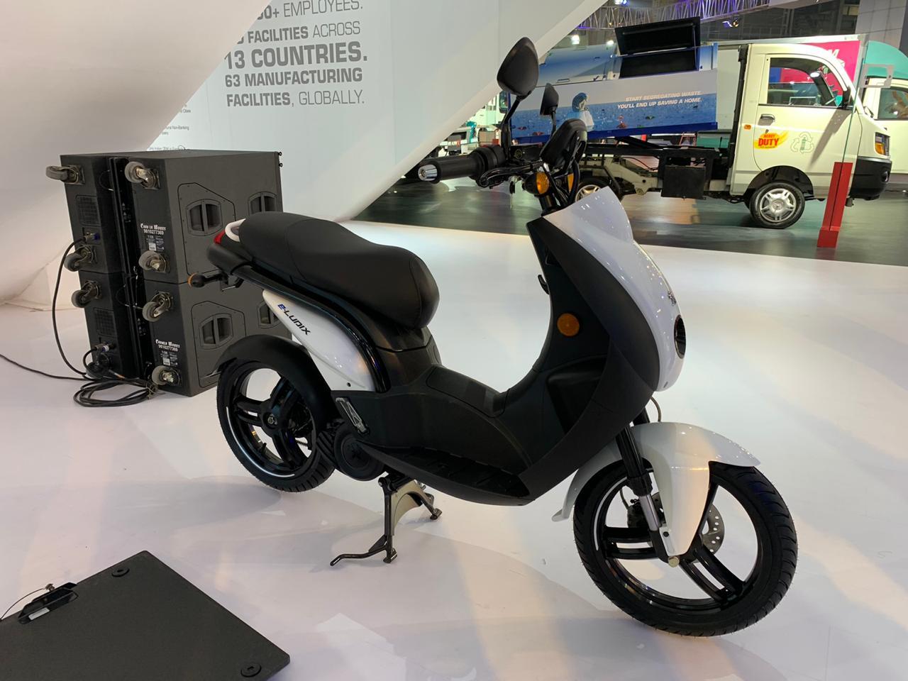 Peugeot e-Ludix at the Auto Expo 2020