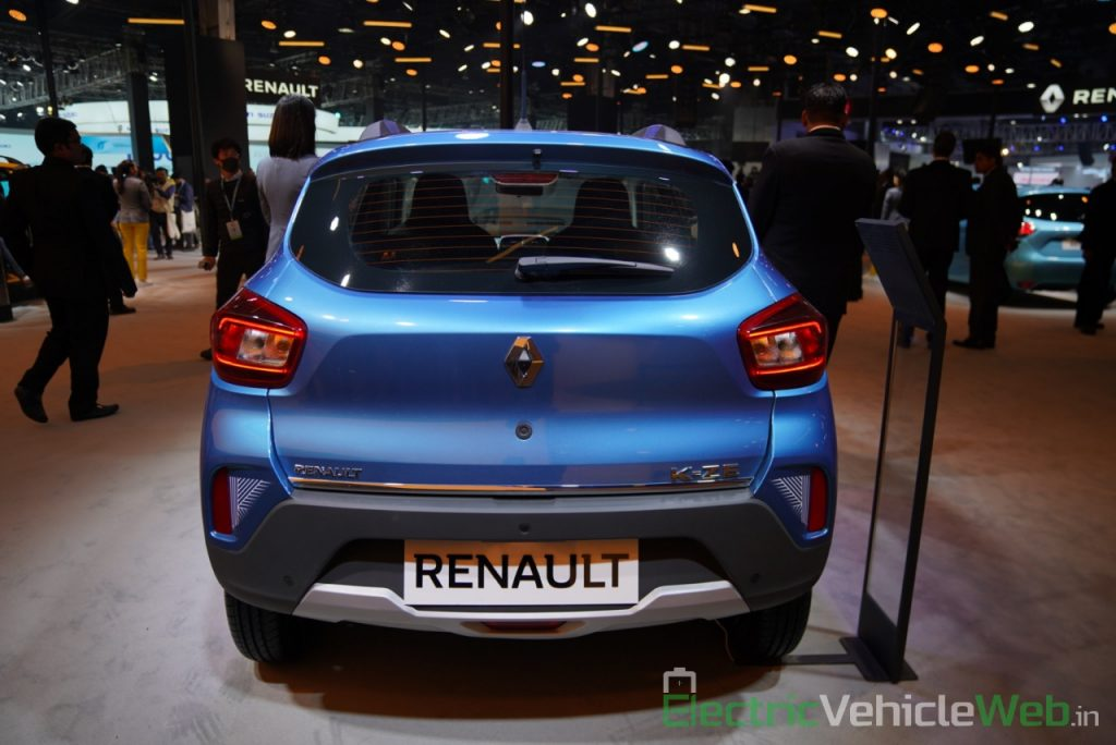 Renault Kwid electric (K-ZE) rear view - Auto Expo 2020
