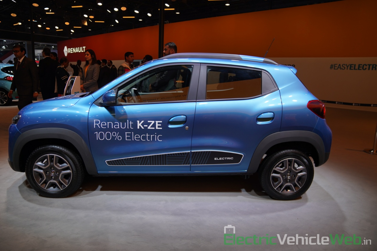 Renault Kwid electric (K-ZE) side view - Auto Expo 2020