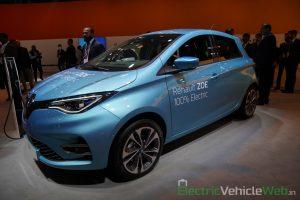 Renault Zoe Electric front three quarter view - Auto Expo 2020