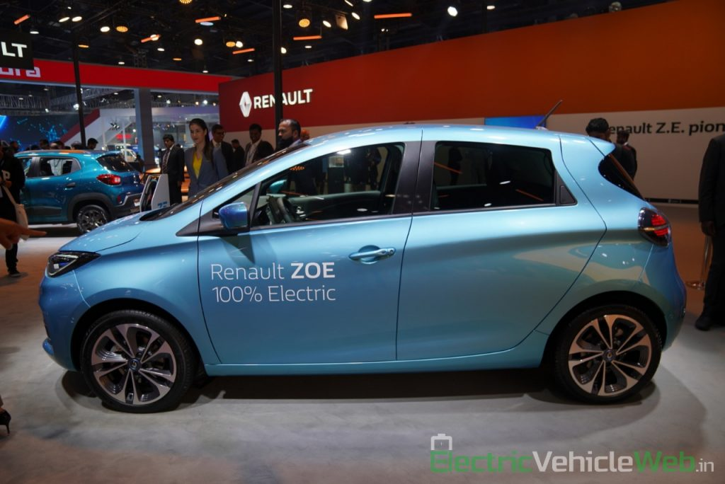 Renault Zoe Electric side view - Auto Expo 2020