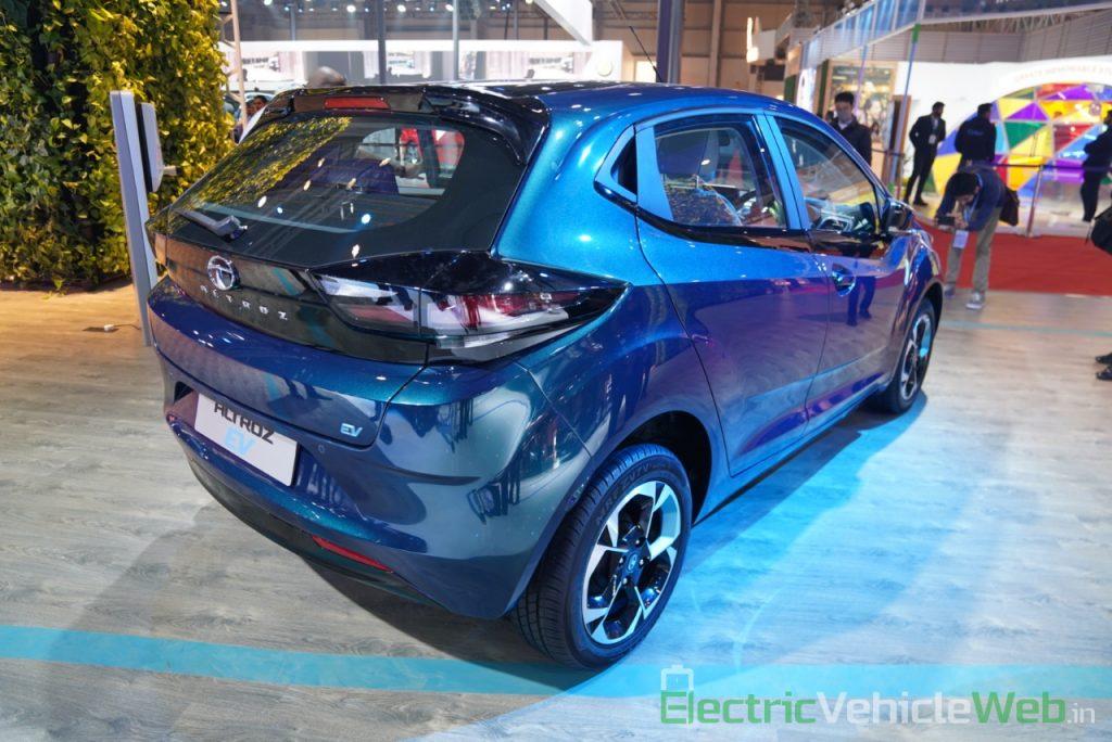 Tata Altroz EV rear three quarter view - Auto Expo 2020
