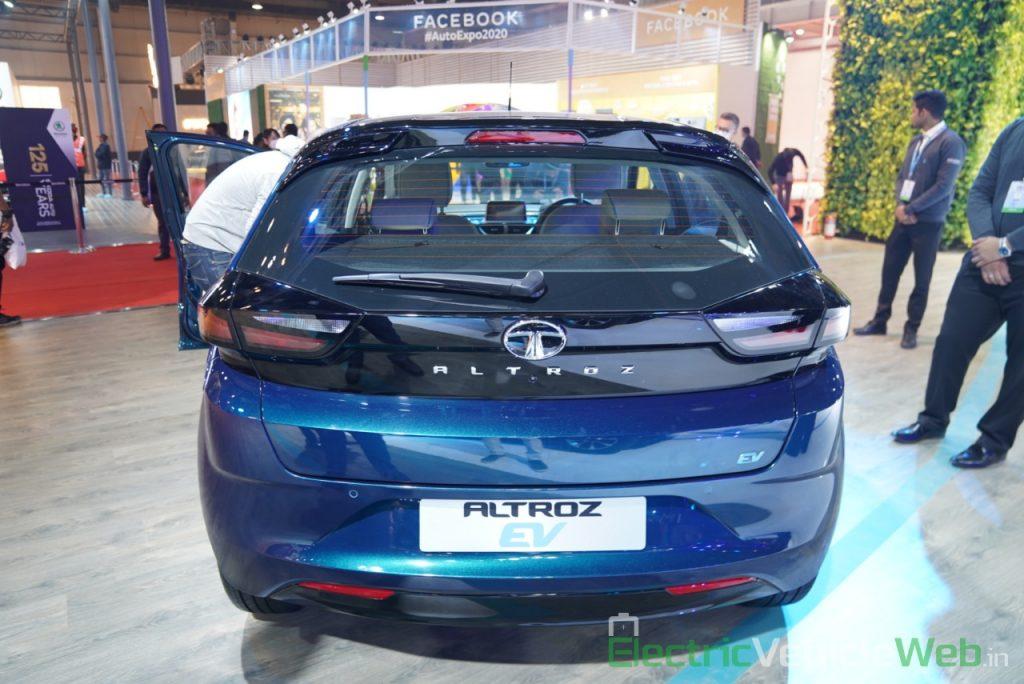 Tata Altroz EV rear view - Auto Expo 2020