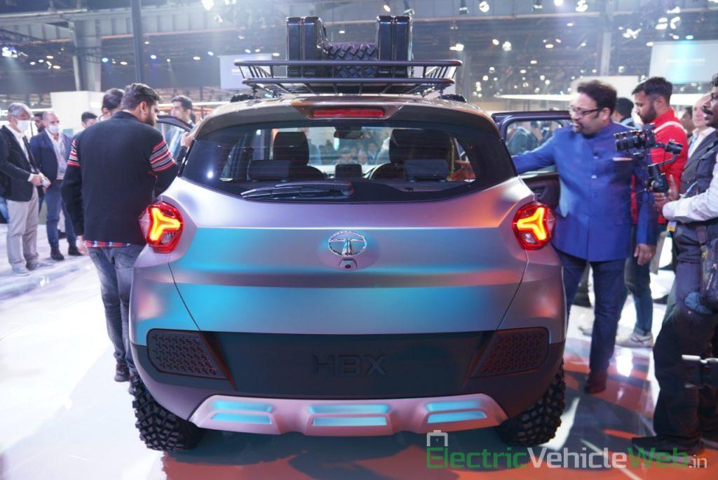 Tata HBX Concept rear view - Auto Expo 2020