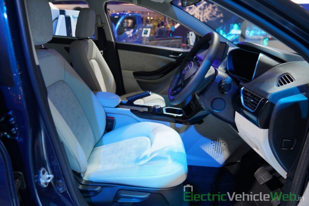 Tata Nexon EV front seats - Auto Expo 2020