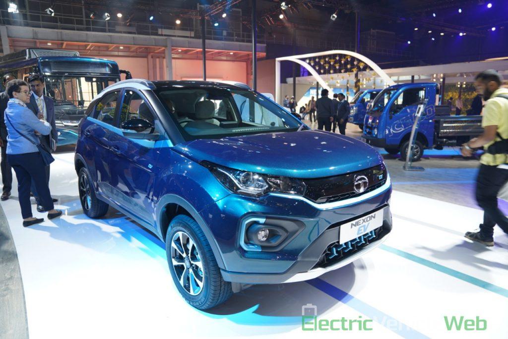 Tata Nexon EV front three quarter view 2 - Auto Expo 2020