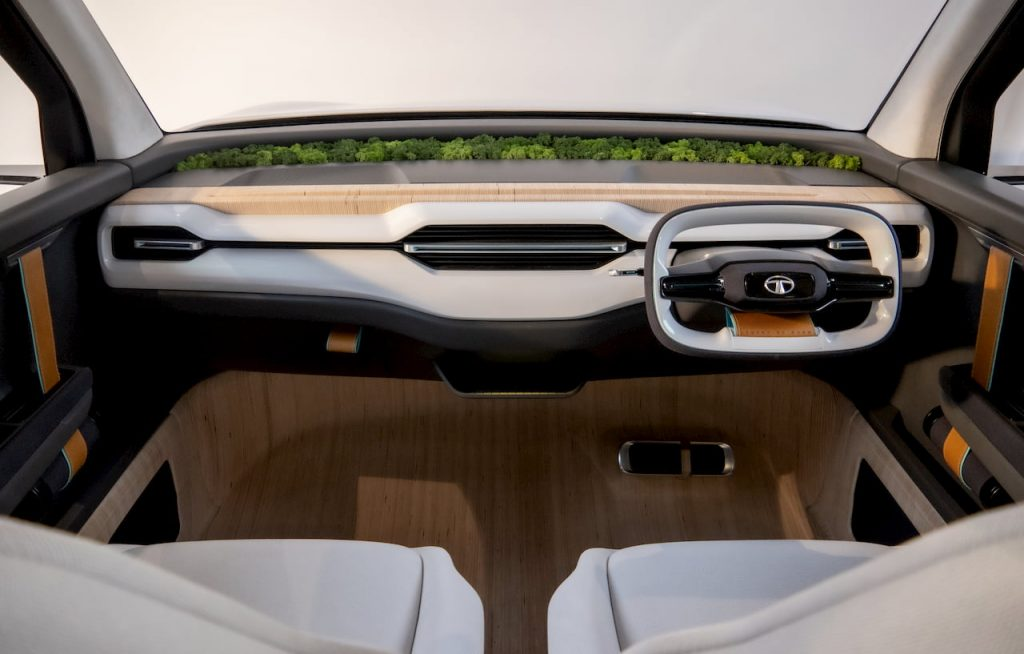 Tata Sierra EV Concept interior dashboard