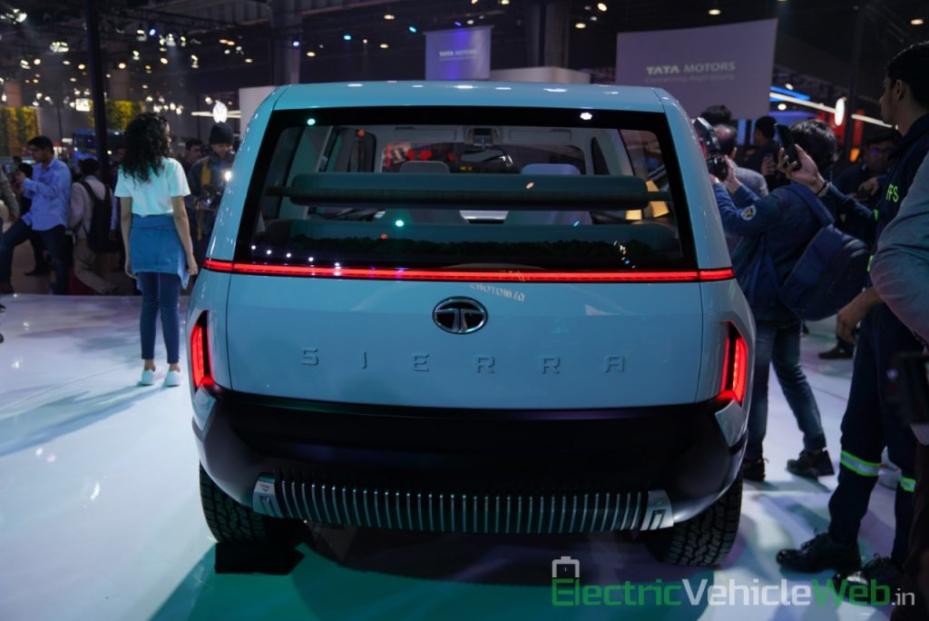 Tata Sierra EV Concept rear view - Auto Expo 2020