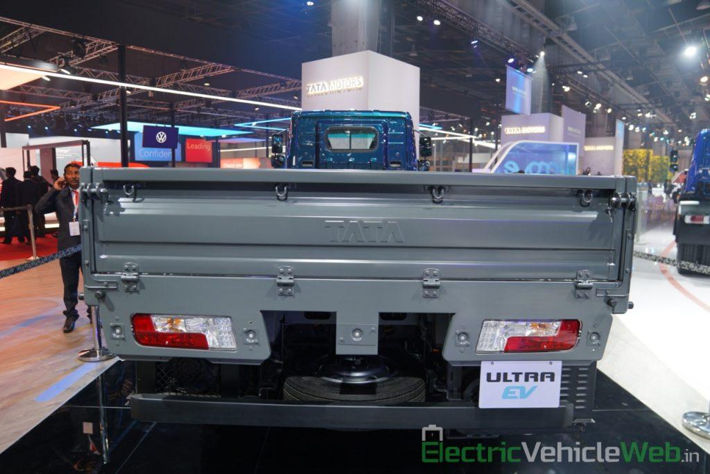 Tata Ultra Electric Truck rear view - Auto Expo 2020